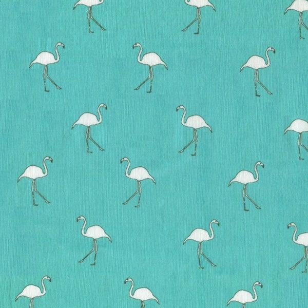 Image of Tshirt Flamingo Turquoise