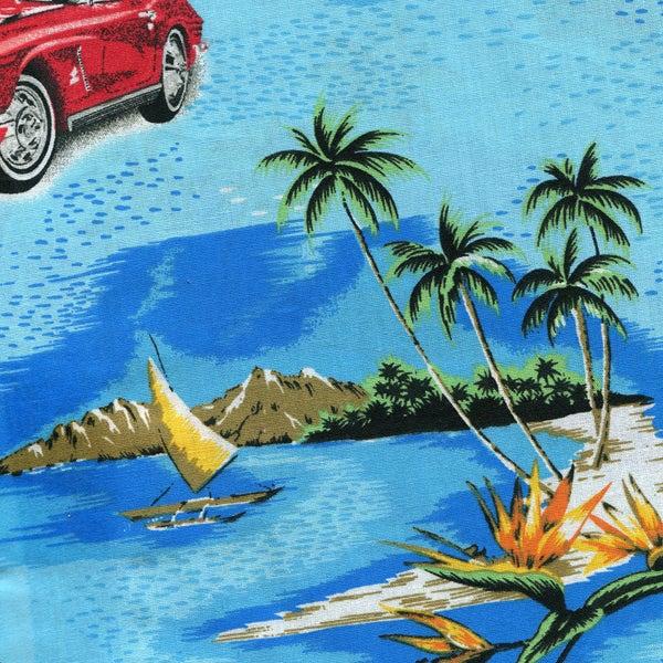 Image of Tshirt Hawaïen Bleu