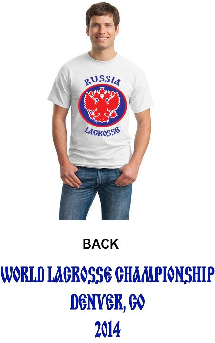 Image of Russia Lacrosse Tee Shirt 2