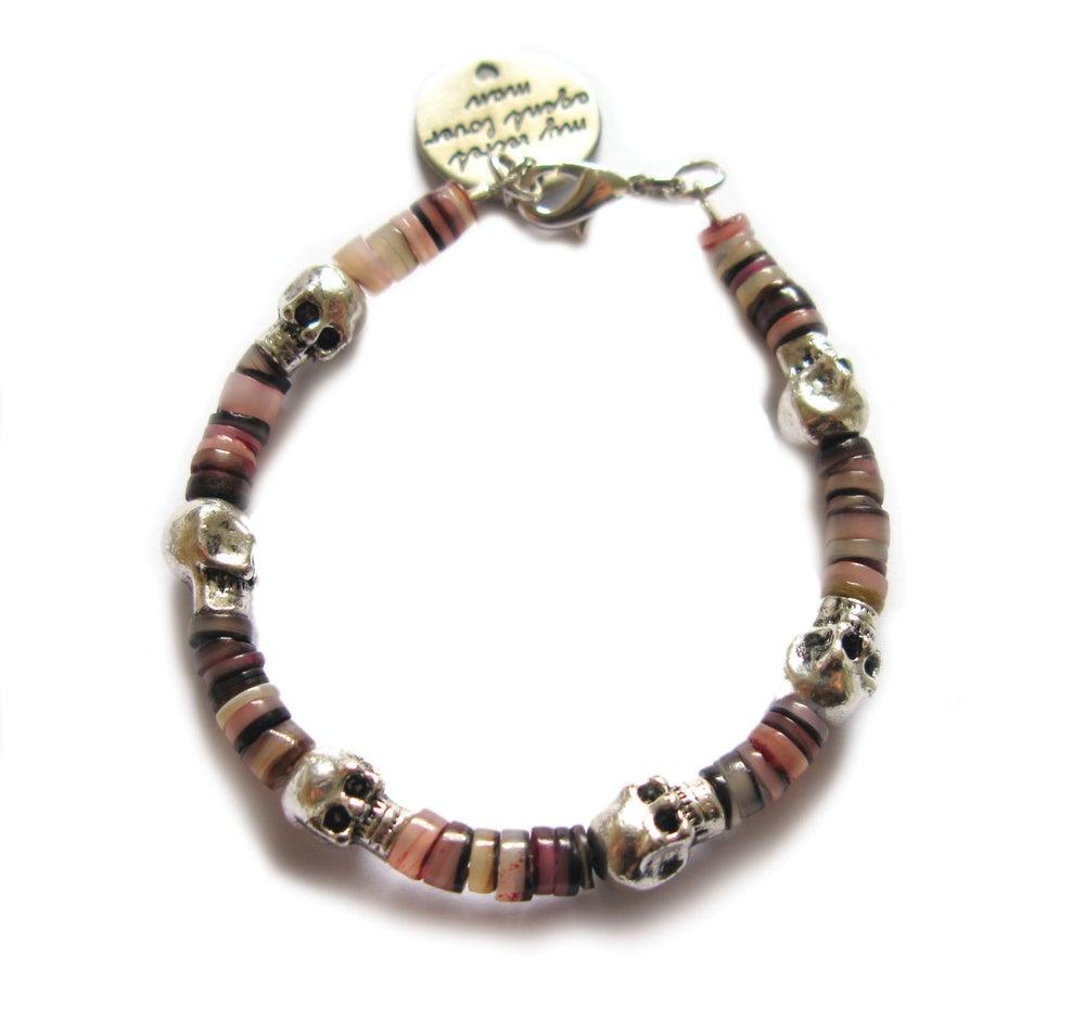 Image of Beach Bum Skull Bracelet