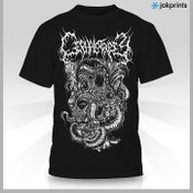 "Image of BLACK and WHITE ""Nev Art"" shirt"