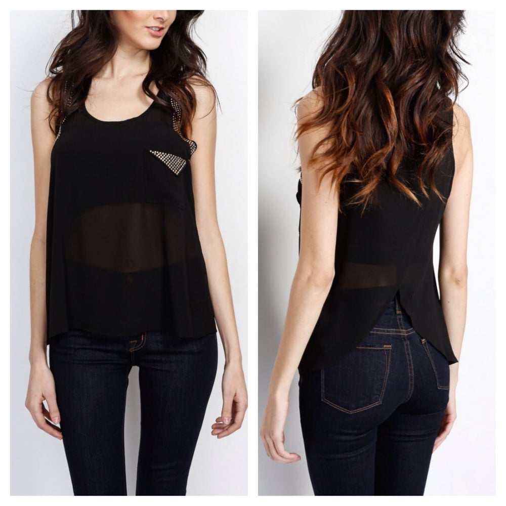 Image of Cleopatra Chiffon Tank Top