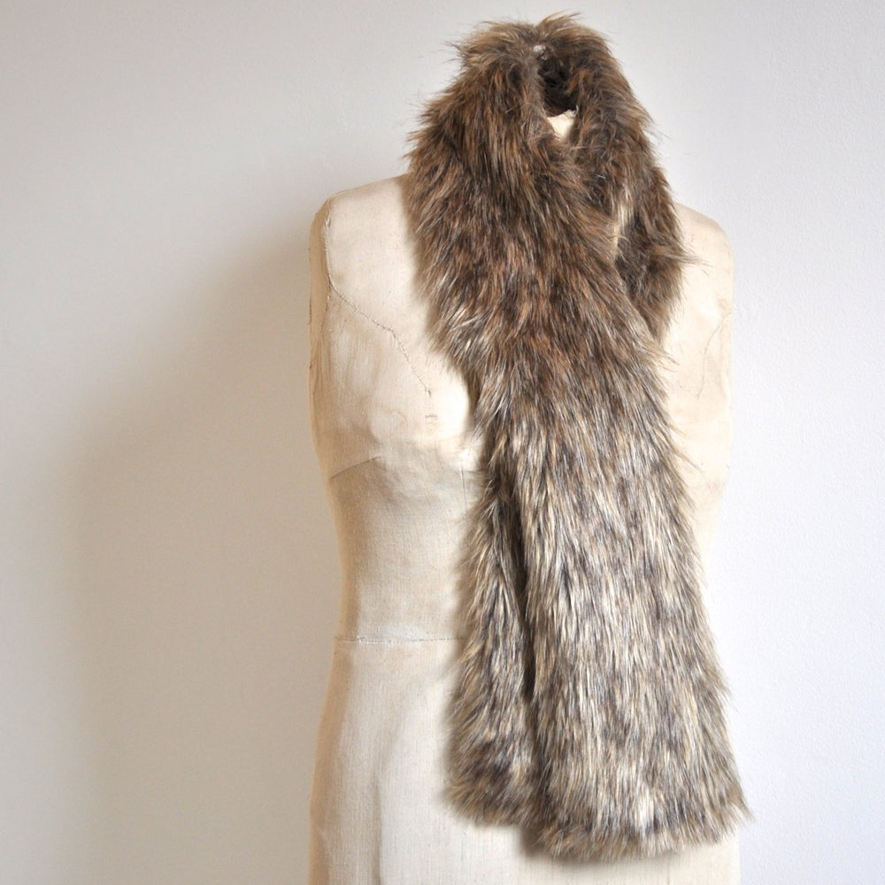 Image of Faux Faux Minky Scarf - Desert Sand