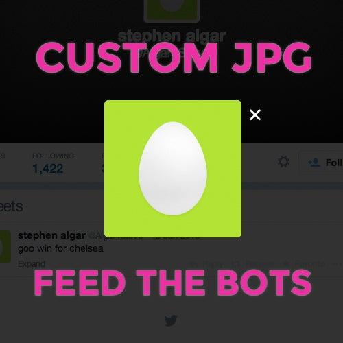 Image of Custom JPG // Feed the Bots