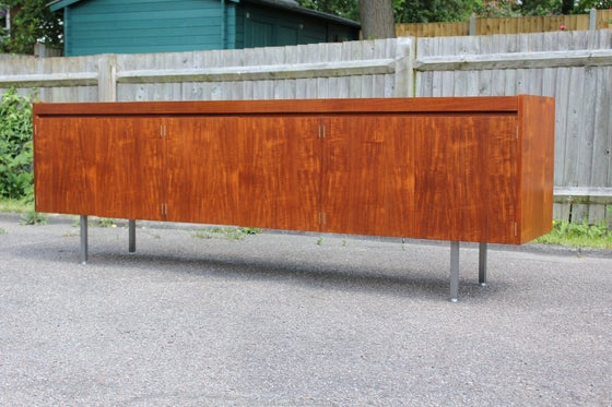 Image of Vintage minimalist Herbert Hirsch style teak sideboard designed c1960s