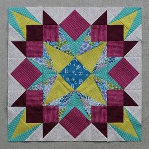 Image of Drop Dead Gorgeous Paper Pieced Quilt PDF Block Pattern