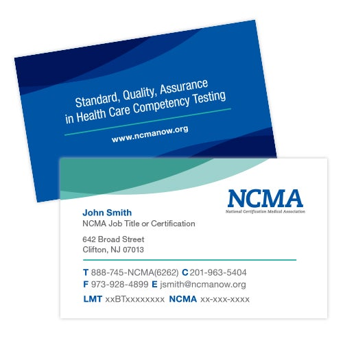 NCMA Now u2014 Business Cards
