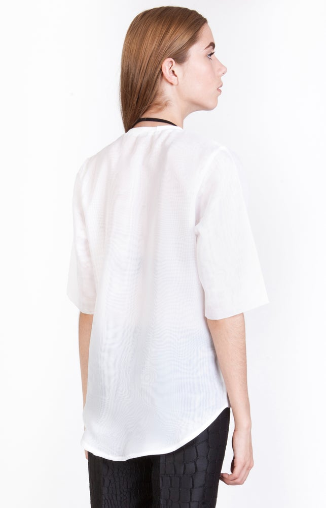 Image of SS Wavy Transparent T-Shirt - W