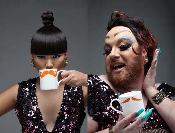 Image of Original Moustache Mug - Fu Magnum (Ginger)