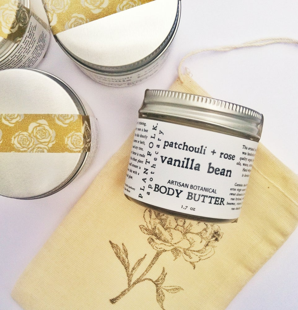 Image of patchouli + vanilla bean + rose // whipped body butter