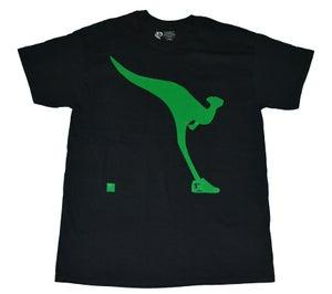 Image of Paperstack Apparel 'Kangaroo Kicks' Tshirt (Goblin Green/Black)