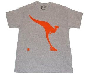 Image of Paperstack Apparel 'Kangaroo Kicks' Tshirt (Flash Orange/Grey Heather)