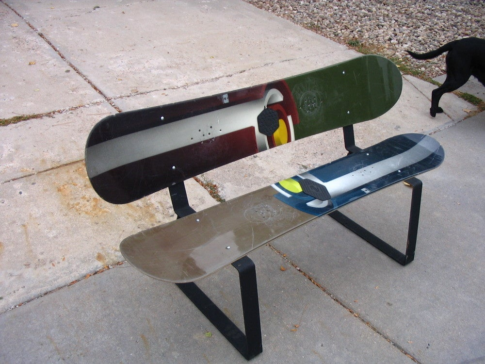 The Steel Edge The Steel Edge Snowboard And Ski Bench Design