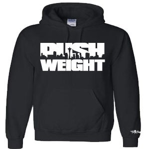 Image of Push Weight Pullover Hood In Black