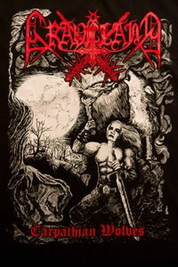 "Image of Graveland ""Carpathian Wolves"" TS - RED logo version"