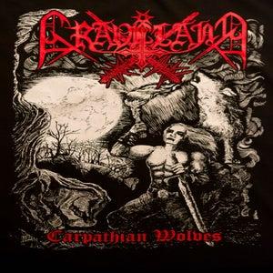 "Image of Graveland ""Carpathian Wolves"" TS - RED logo version"