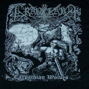 "Image of Graveland ""Carpathian Wolves"" TS - SILVER logo version"