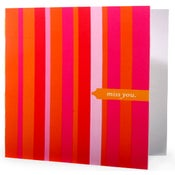 Image of Miss You • Single Note in Pink Stripe