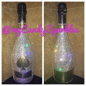 Image of Ace of Spades crystal covered bottle