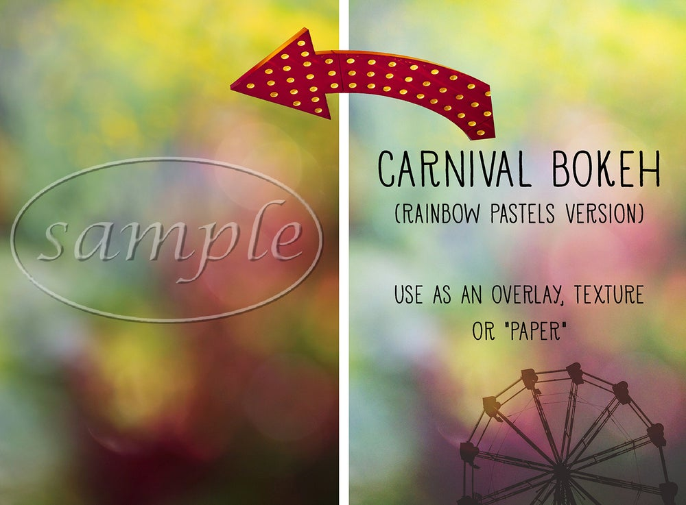 Image of Carnival Bokeh (Rainbow Pastels Version) Overlay