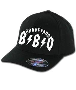 Image of GRAVEYARD BBQ LOGO Flexfit Hat