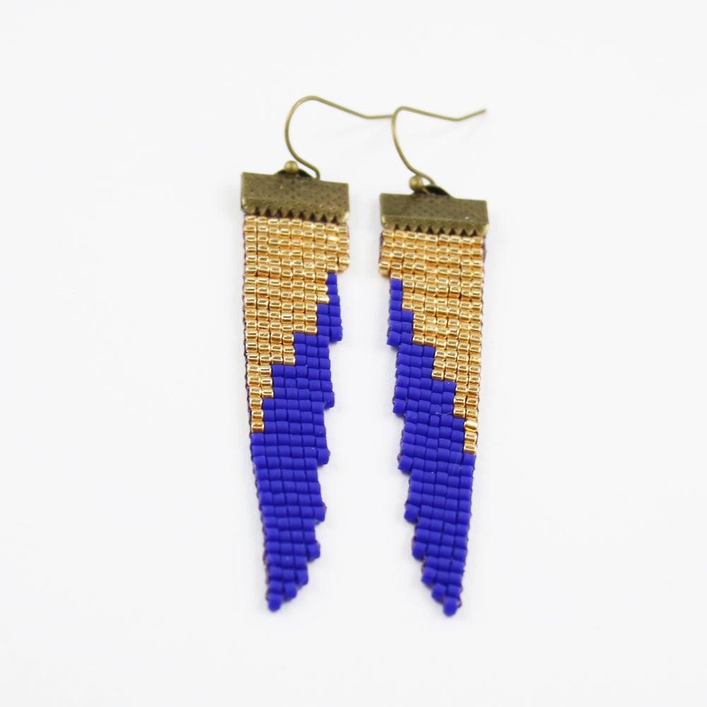 Image of Helen of Troy // Loom-beaded Earrings