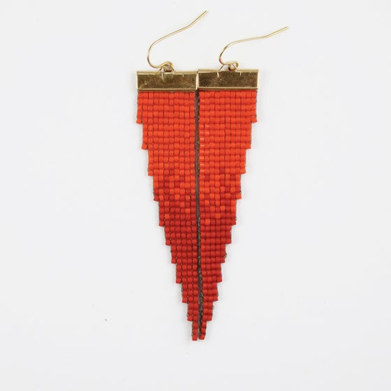 Image of Fireball // Loom-beaded Earrings