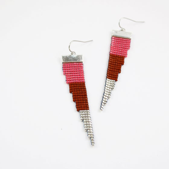 Image of Astro Pop // Loom-Beaded Earrings