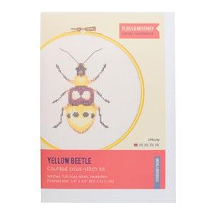 Image of Yellow Beetle cross-stitch kit