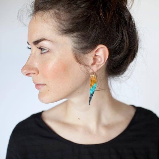 Image of Bamboo // Loom-beaded Earrings