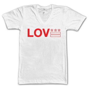 Image of Love DC - White V-Neck - #LoveCitees (Unisex)