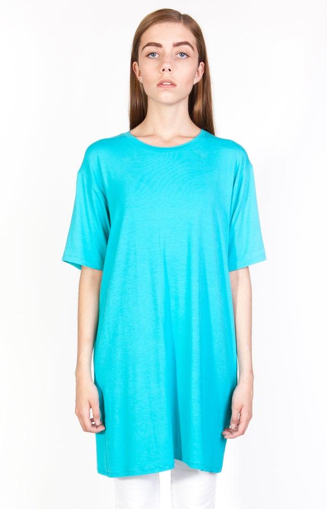 Image of SS Cyan Long T-Shirt - W