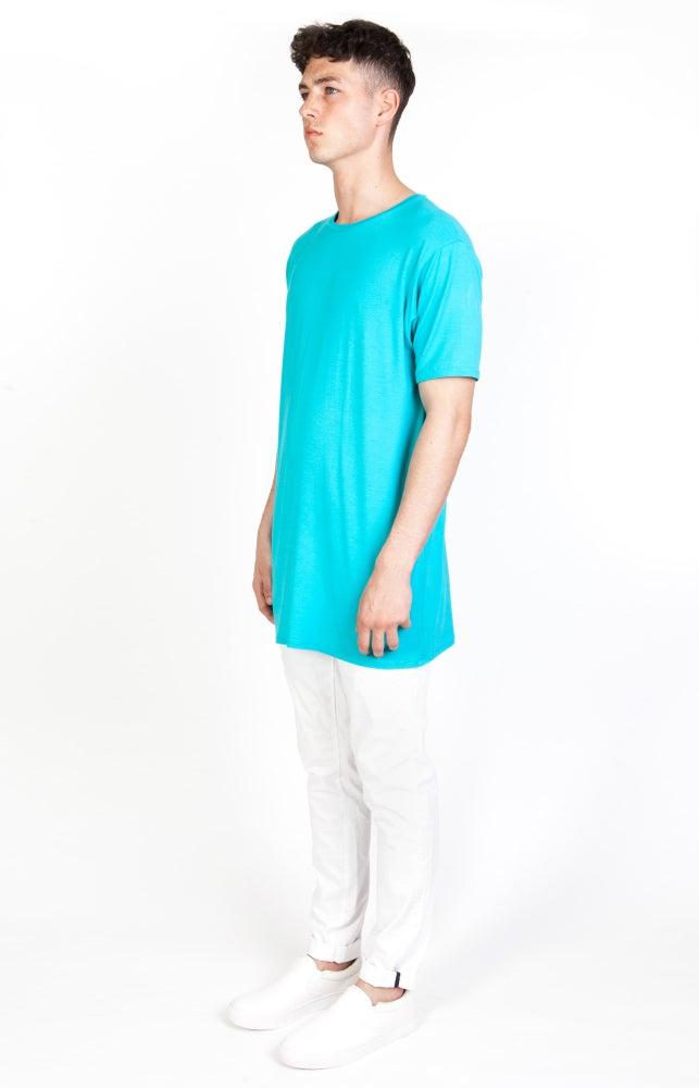 Image of SS Cyan Long T-Shirt - M