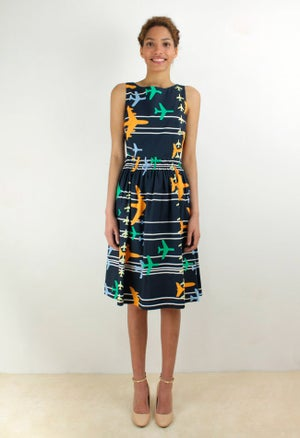 Image of PLANE PRINT DRESS