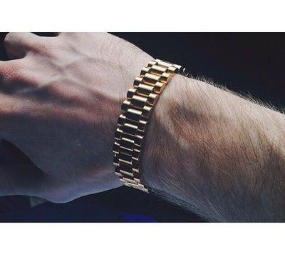Image of presidential rollie bracelet - gold
