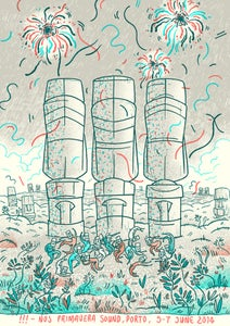 Image of !!! (chk chk chk) Poster, Primavera Sound, Porto 2014