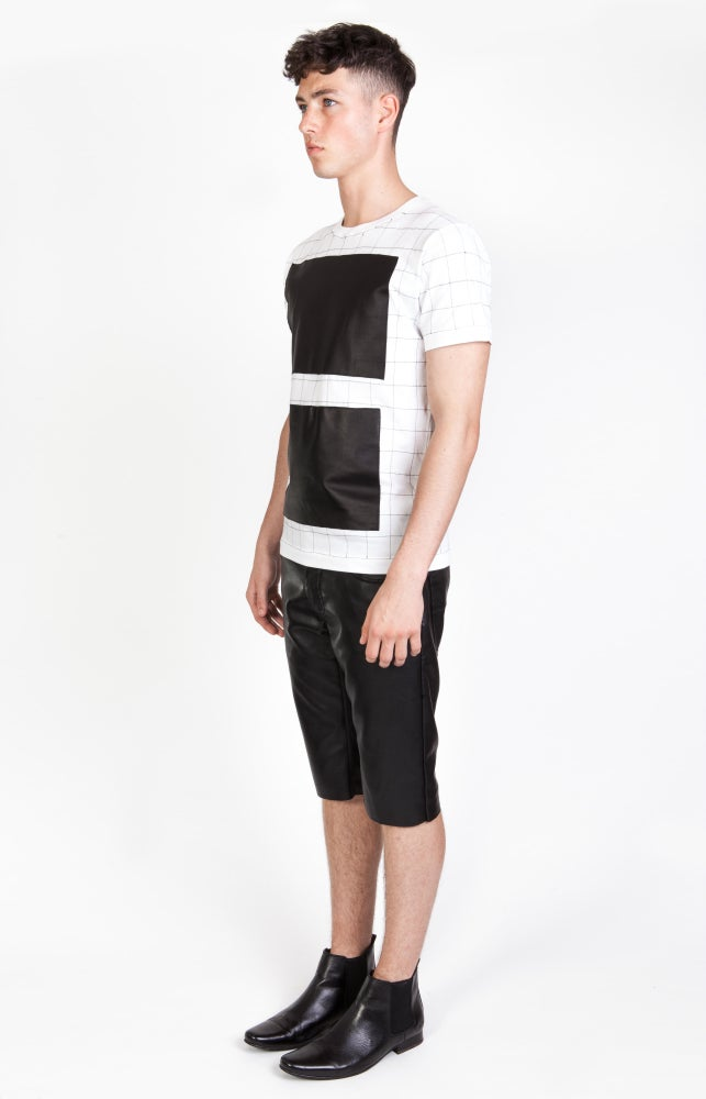 Image of SS Grid T-Shirt - White