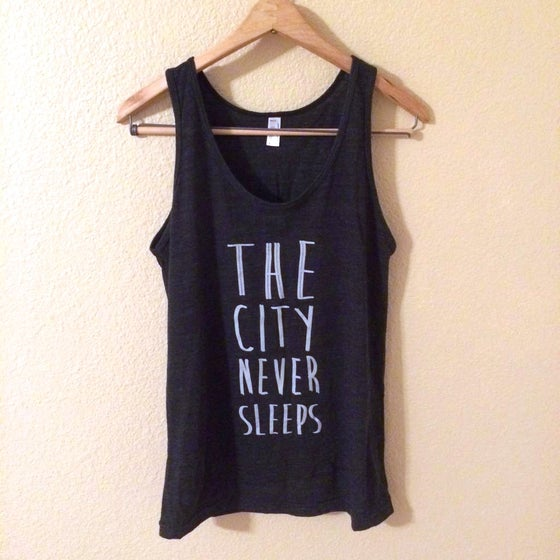 Image of THE CITY NEVER SLEEPS tank in Black