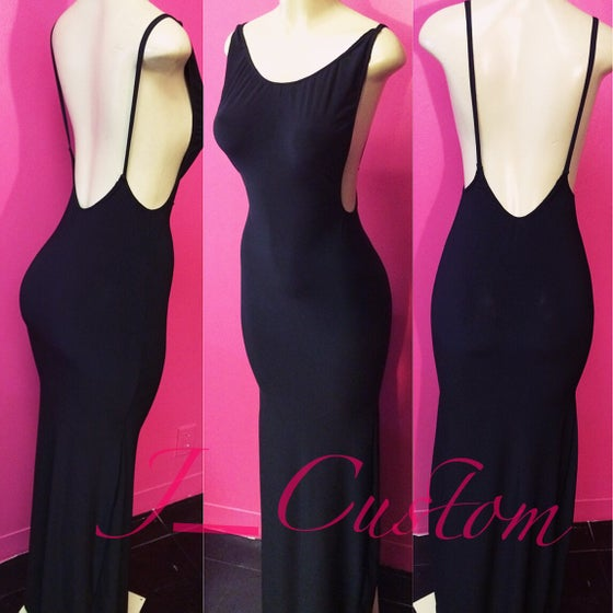 Image of Black Side Boob Maxi Dress