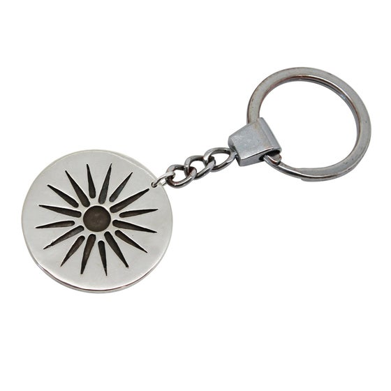 Image of Sun Sterling Silver Key Chain