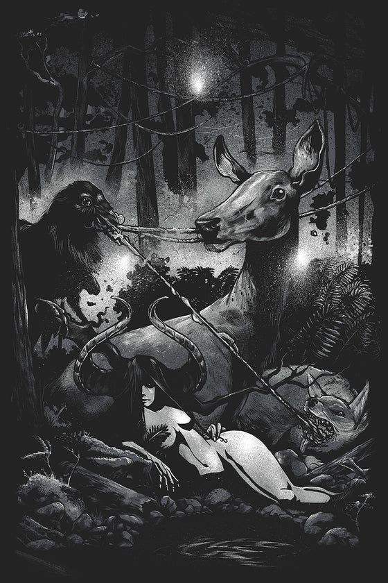 "Image of ""The Three Beggars"" 24x36 Screen Print ltd 50"