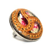 Image of Hurricane Vintage Glass multi colored Cocktail Ring