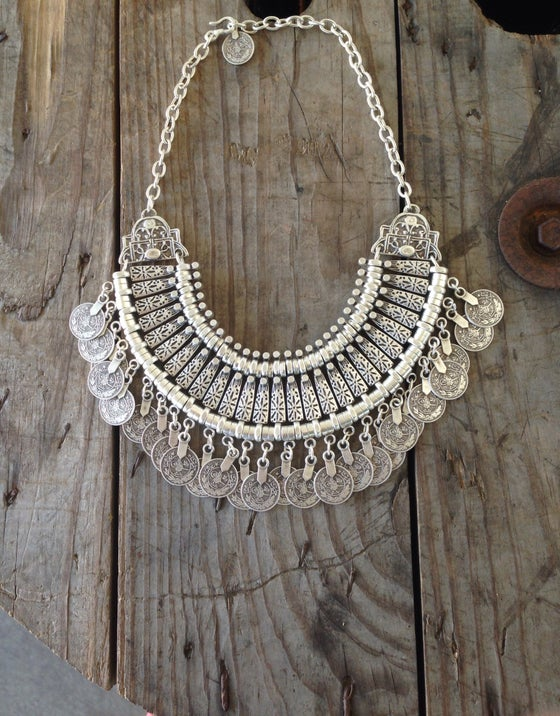 Image of Silver Goddess Statement Necklace