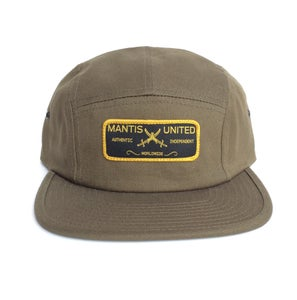 Image of 5 Panel authentic patch hat olive