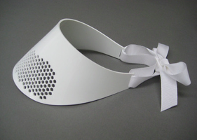 Image of White hex cut visor