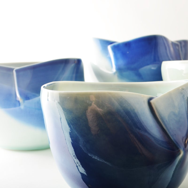 Image of blue dart bowl - large
