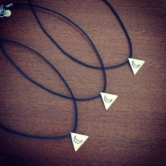Image of HG triangle moon choker