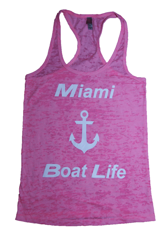 Image of Pink Burnout Tank Top ladies