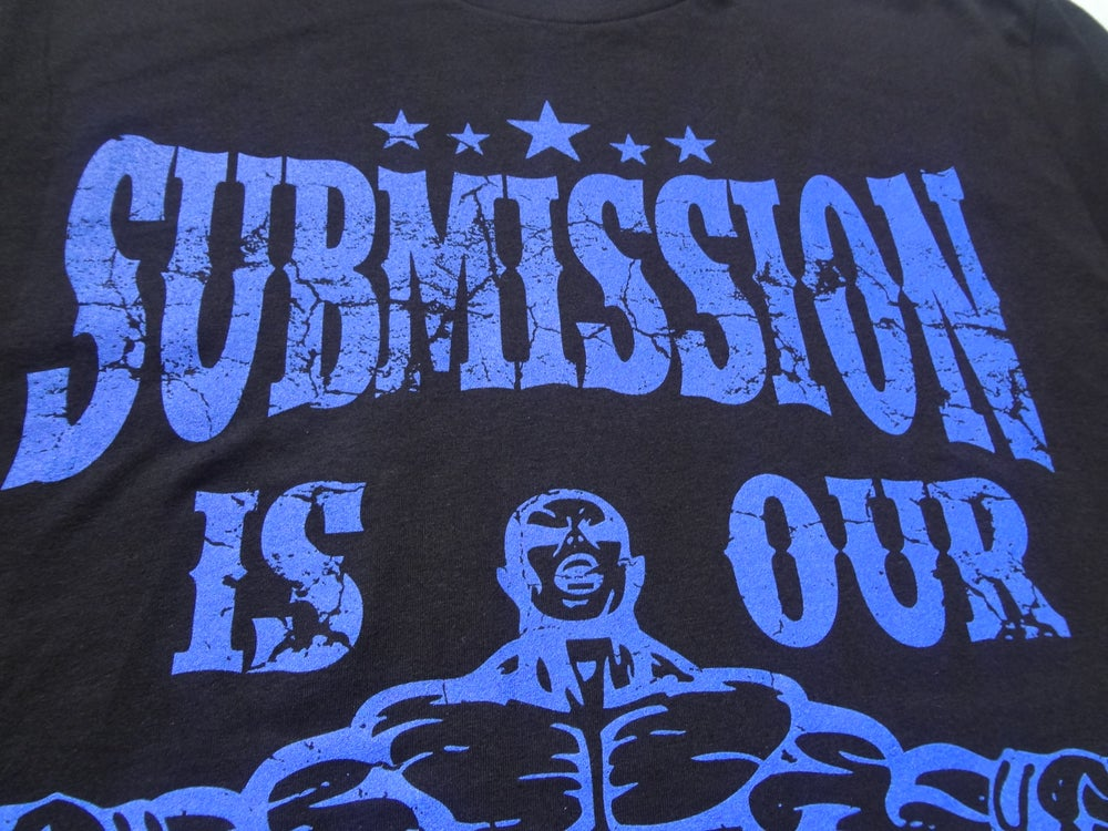 Image of Submission is our Mission-Black Shirt with Epic Blue