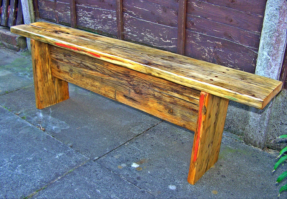 Image of Thinking Bench made from Reclaimed Scaffold Planks